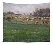 Cows In A Farm, Georgetown  Tapestry