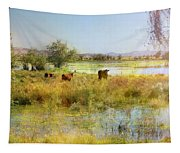 Cows In The Desert Tapestry