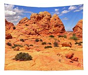 Coyote Buttes Pastel Landscape Tapestry