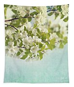 Crabapple Blossoms Tapestry