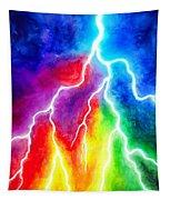 Rainbow Color Lightning Tapestry