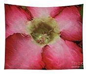 Craquelure Pink Flower Tapestry