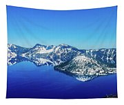 Crater Lake Blue Tapestry