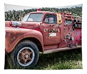 Crawford Fire Truck  Tapestry