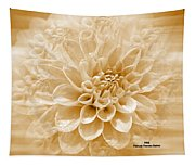 Cream Floral Tapestry