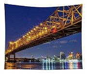 Crescent City Bridge, New Orleans, Version 2 Tapestry