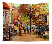 Crescent Street Montreal Tapestry