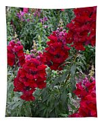 Crimson Snapdragons Tapestry