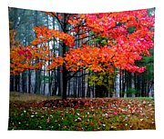 Crimson Tree Tapestry