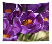 Crocus And Bee Tapestry