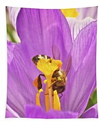 Crocus And The Bee Tapestry