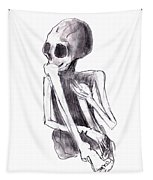 Crouched Skeleton Tapestry