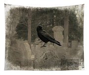 Crow In The Old Graveyard Mix Tapestry
