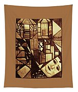 Crowded Neighborhood Abstract Tapestry