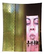 Crown Fountain At Millennium Park Tapestry