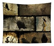 Crows And One Rabbit Tapestry