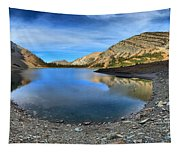 Crypt Lake Gold And Blue Tapestry