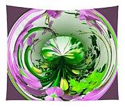 Crystal Ball Flower Garden Tapestry