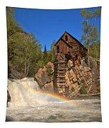 Crystal Mill Rainbow Portrait Tapestry