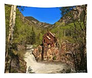 Crystal Mill Through The Trees Tapestry