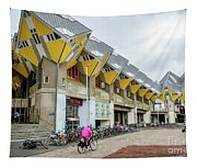 Cube Houses In Rotterdam Tapestry
