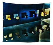 Cubes Reflection Tapestry