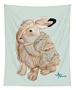 Cuddly Arctic Hare II Tapestry