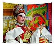 Cultural Opera Actor In Red Tapestry