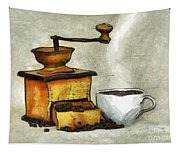 Cup Of The Hot Black Coffee Tapestry