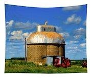 Cupola Grain Silo - Iowa Tapestry