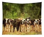 Curious Cows Tapestry