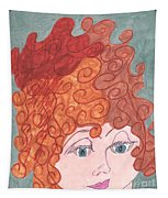 Curly Red Hair Tapestry