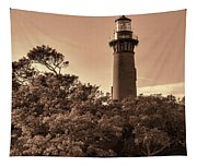 Currituck Beach Lighthouse - Sepia Tapestry