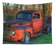 Customized Rust 1949 Ford Pickup Truck Tapestry