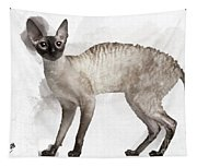 Cute Cornish Rex Youngster Tapestry