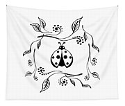 Cute Ladybug Baby Room Decor Vi Tapestry
