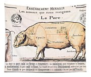 Cuts Of Pork Tapestry