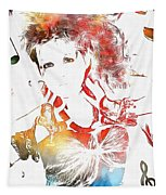 Cyndi Lauper Watercolor Tapestry