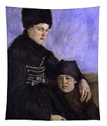 Dachau Woman And Child Tapestry