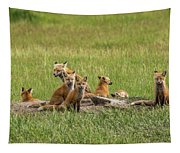 Daddy's Foxy Daycare Tapestry