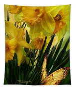 Daffodils - First Flower Of Spring Tapestry