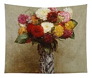Dahlias In A Chinese Vase Tapestry