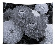 Dahlias Multi Bw Tapestry
