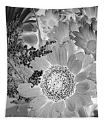 Daisy Bouquet In Black And White Tapestry