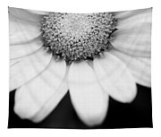 Daisy Smile - Black And White Tapestry