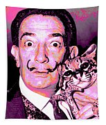 Dali With Ocelot And Cane Tapestry