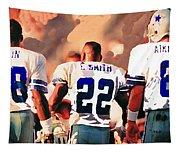 Dallas Cowboys Triplets Tapestry