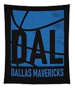 Dallas Mavericks City Poster Art Tapestry