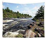 Dalles Rapids French River Iv Tapestry