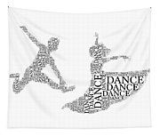 Dance Couple Words Tapestry